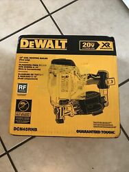 Dewalt Dcn45rnb 20-volt Max 15-degree Cordless Roofing Nailer Tool-only
