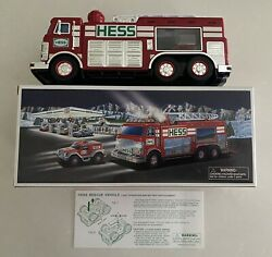 2005 Hess Emergency Truck With Rescue Vehicle- New In Box- Tested