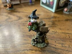 Wee Forest Folk Settin' A Spell Halloween Costume Witch In Tree Rest Stop M-213