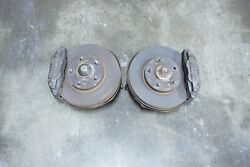 Jdm 90-96 Nissan 300zx Z32 Front 4pot Brakes Rotors Hubs Calipers Spindles