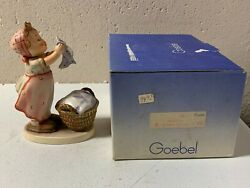 Goebel Hummel Figurine Wash Day 3216andrdquo Tall W/box Excell Cond