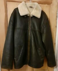 Vintage Speedware Shearling Authentic Brown Flying Jacket Leather Pilot Medium