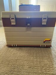 Vintage Plano 757 Tackle Box - Fishing Paintball Parts Crafts Tool Kit Clean
