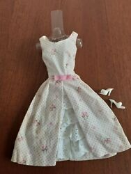 Vintage Original Barbie 931 Garden Party Tagged Dress And White Shoes
