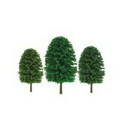 Jtt Scenery Products Tr-2021 Z 1-2 Super Scenic Evergreen Tree Pack Of 55