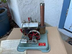 Jensen Model 60 Live Steam Engine Tin Toy With Instruction Sheet And Fuel Tablets