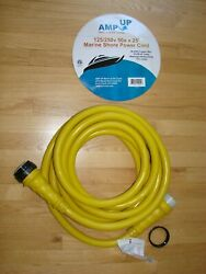Amp Up Marine And Rv Cords 125/250v 50 Amp X 25' Marine Shore Power Boat Extension