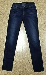 7 For All Mankind Womenand039s The Slim Cigarette Stretch Denim Jeans Size 27