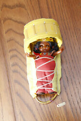 Apache Cradleboard Baby Doll By Viola Seymore Hand Made Indian Native American