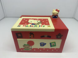 Vintage Hello Kitty Plastic Jewelry Box w Mirror Made in Japan 1992 RARE NEW