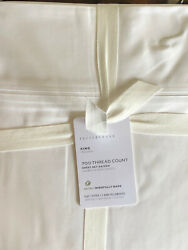 Pottery Barn 700 Thread Count Sateen King Sheets 4 Piece Set New - White