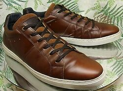 BULL BOXER BROWN LEATHER OXFORDS SNEAKERS CASUAL DRESS WORK SHOES US MENS SZ 13