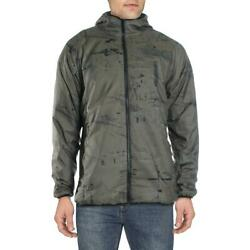 Mens Enhance Graphic Green Winter Basic Coat Cold Weather Xl Bhfo 7628