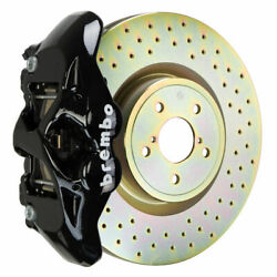 Brembo Gt Brakes Front 4 Pot Black Drilled 326x30 1-piece For 12+ Brz Zn6 Fa20