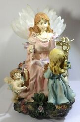 Angel Music Boxes - Lot Of 2 - Angel In Gardena And Rotating - Beautiful But Flaws