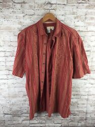 The Territory Ahead Menand039s Large Tall Red Aztec Geometric Print Button Up Shirt