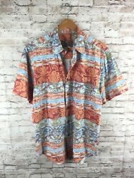 Vintage The Territory Ahead Menand039s Large Multicolor Aztec Floral Button Up Shirt