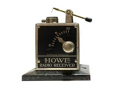 Howe Auto Product Co.radio Receiver Green Speckled Crystal Radio