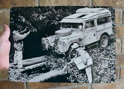 Metal Sign - 1956 Land Rover Series I Oxford Cambridge University Expedition