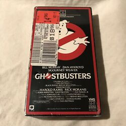 1985 Ghostbusters Rca Columbia Sealed Vhs First Edition Side Load Box