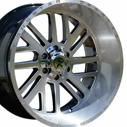 22 Brushed Silver Lonestar Tomahawk Wheels 22x12 6x135 -44 Ford F150 Expedition