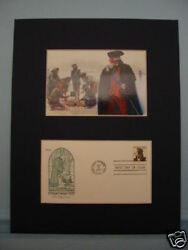 George Washington At Valley Forge And First Day Cover Of Its Bicentennial Stamp