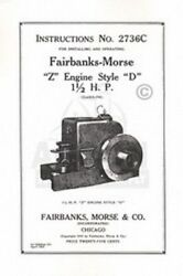 Fairbanks Morse Z D 1 1/2 Hp Hit And Miss Engine Manual