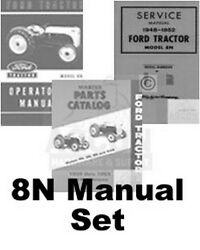 Ford 8n Tractor Chassis Service Operators Parts Manual