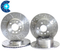 For Nissan 300zx Z32 Tt Front Rear Drilled And Grooved Brake Discs