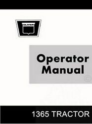 Oliver 1365 Utility Row 4wd Tractor Operators Manual Ol