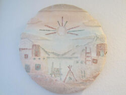Hand Made Paper Large Round Pastel Wall Hanging Decor