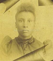Cabinet Card Photo Post Mortem Memorial Adolescent African American Girl Id'd