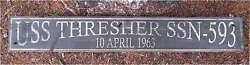 Uss Thresher Ssn 593 Rustic Hand Painted Wood Sign Huge