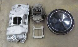Offenhauser Aluminum Intake And Holley Carb And Chrome Air Cleaner Big Block Chevy