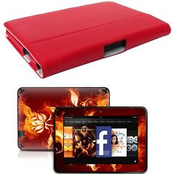 Genuine Leather Case Cover For Kindle Fire Hd 7 Inch + Skin Accessory R01