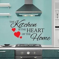 Kitchen Is The Heart Of The Home Quote Wall Art Sticker Decal Dining Room Decor