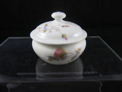 Dandc Limoges 3pc Dresser Set Pin Tray Perfume Covered Box Flowers