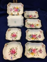 Royal Crown Derby Posies 8 Bone China Mini Trays/dishes From England -estate