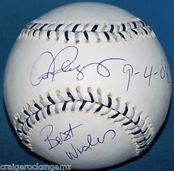 Alex Rodriguez Best Wishes Signed Autographed Baseball Mvp/coa 2008 All Star