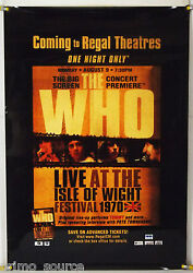 The Who Live Isle Of Wight Festival 1970 Rolled Orig 1sh Movie Poster 2006