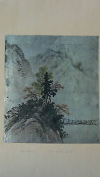 Antique19c Japanese Inkandwatercolor Painting On Paper,artist Sign And Red Seal