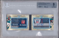 Tannehill/miller 2012 Topps Five Star Dual Rookie Auto Laundry Tag Bgs 9/au 10