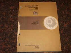 John Deere 6414d 6414t Oem Engine And Accessories Parts Book Manual Pc-1471