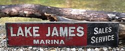 Personalized Lake Marina Sales And Service - Rustic Hand Made Vintage Wood Sign