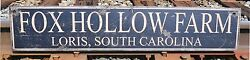 Custom Farm - City, State Wood Sign - Rustic Hand Made Vintage Wood Sign