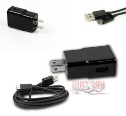 100 2a Power Adapter+10and039 Micro Usb Cable Data Charger Black Lumia 800 G2 Optimus