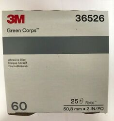 3m Green Corps Roloc Grinding Discs 2 60 Grit 3m 36526 Replacement For 3m 01397