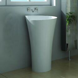 Free Standing Solid Surface Stone Resin Glossy Sink 21 X 21 Inch - Dw-103