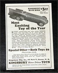 1928 Old Magazine Print Ad Kingsbury Blue Bird Most Exciting Toy Of The Year