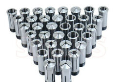 35pc 1/16 1-1/8 X 32nds High Precision 5c Collet Set And Stop Tir Certificate S[